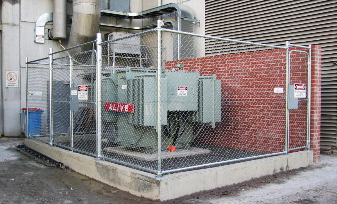 Completed transformer installation