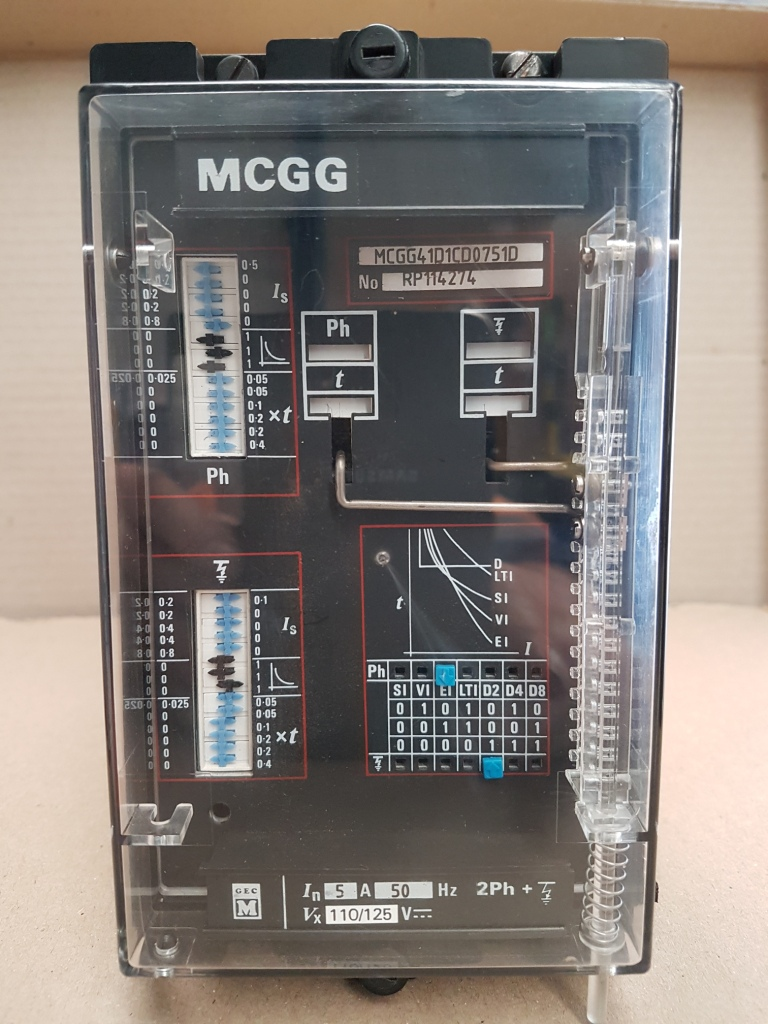 GEC Midos MCGG41D 2 phase + earth In=5A Vx = 125V